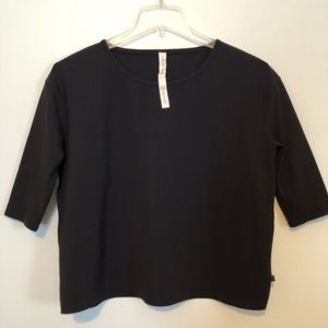 Lululemon out of this world Black Blouse Size 12